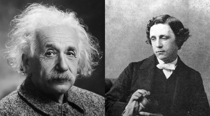 Albert Einstein e Lewis Carroll