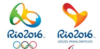 Logo and font of Rio 2016