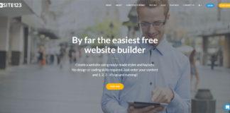 Realizzare siti web gratis con SITE123