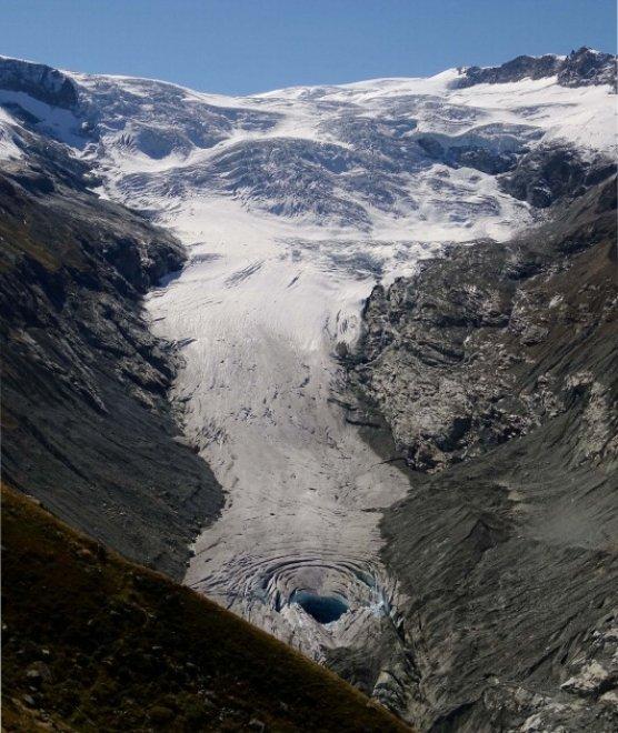 Voragine nelle alpi svizzere