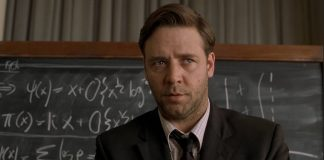 John Nash interpretato da Russel Crowe nel film A Beautiful Mind