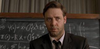 John Nash interpretato da Russel Crowe nel film A Beautiful Mind