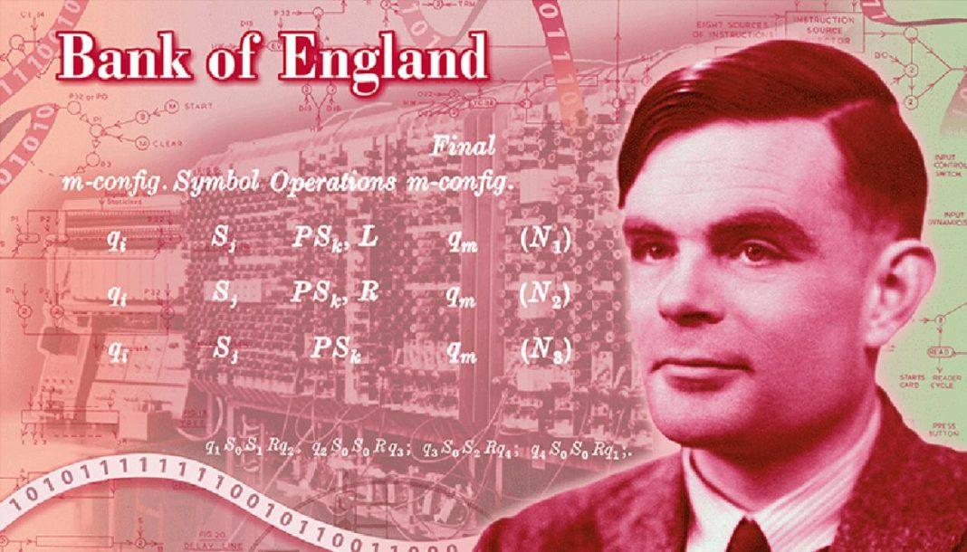 La banconota da 50 sterline col volto di Alan Turing
