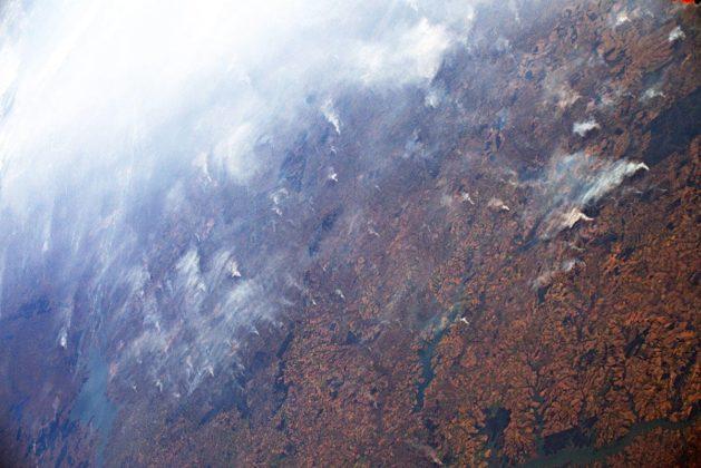 Incendio Foresta Amazzonica Luca Parmitano