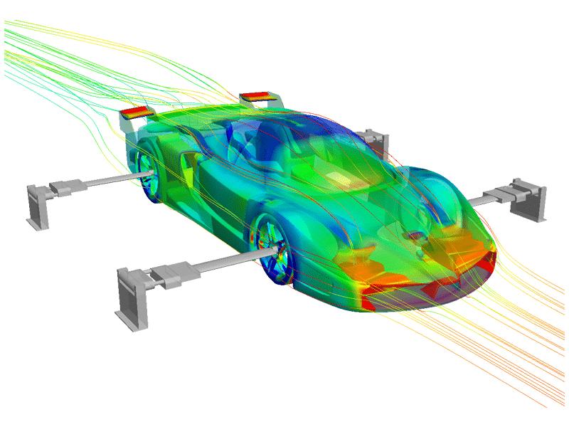 Simulazione software Navier-Stokes