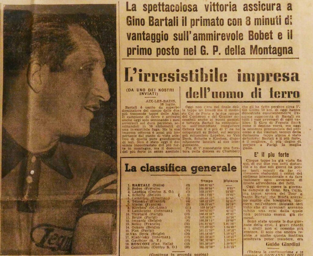 Bartali vince il Tour de France 1948