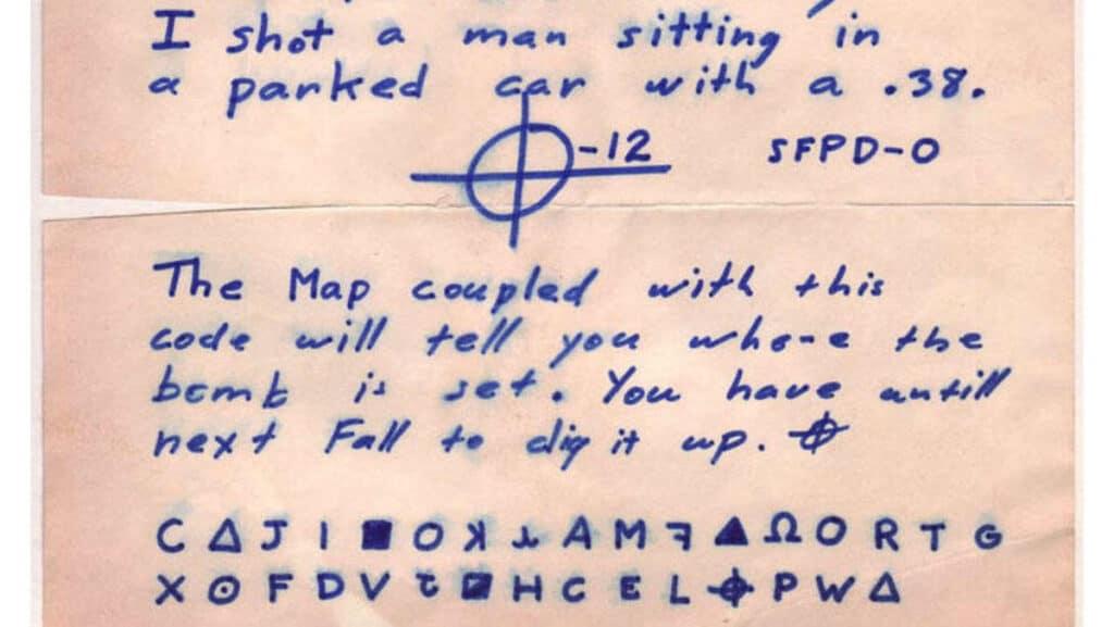 messaggio cifrato di zodiac