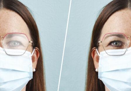 Occhiali appannati con mascherina: soluzioni per dire addio alla nebbia