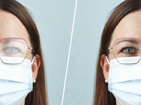 occhiali appannati mascherina covid acqua tensione superficiale rimedi spray appannamento