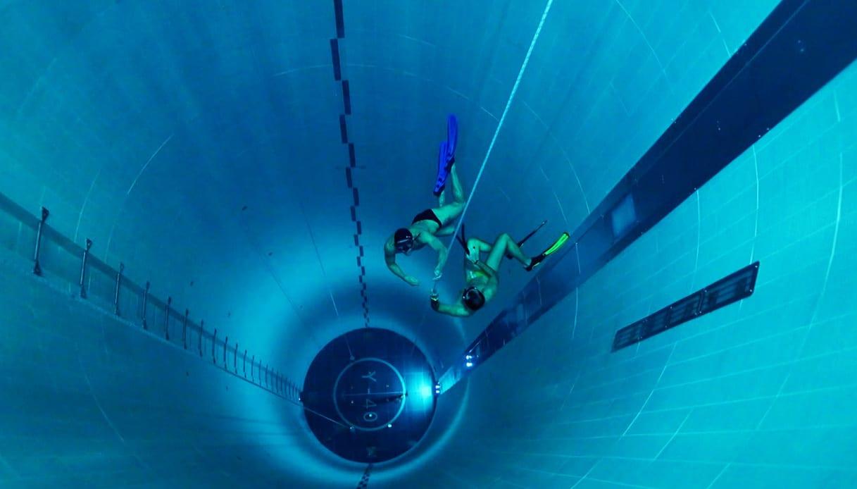 Nella piscina Y40 sono stati svolti i test sui rilevatori dei neutrini