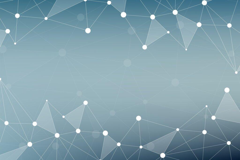 rappresentazione geometrica di nanomateriali ideali per sfruttare la termoelettricità, bianca su sfondo azzurro