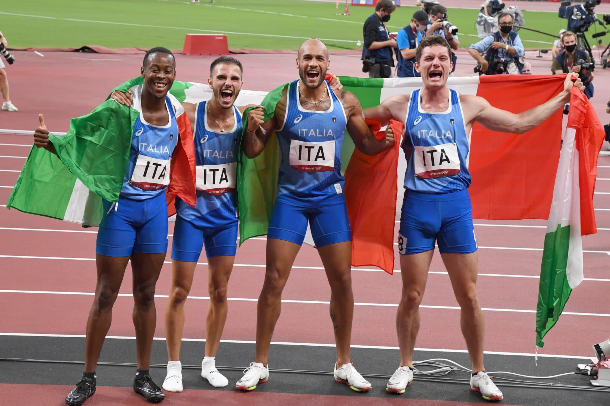 Tokyo 2020, Atletica: storico oro degli azzurri nella staffetta 4x100. Crediti: Alfredo Falcone