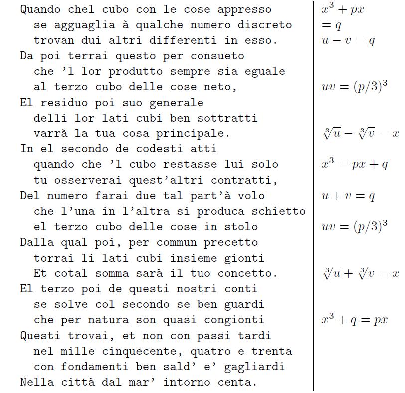 formule di Cardano